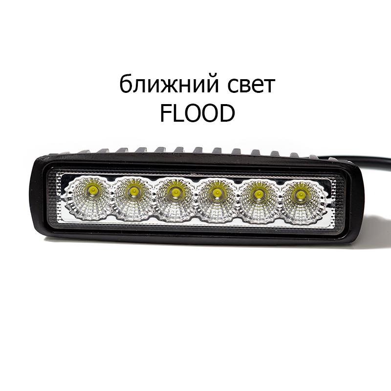 Image 3 - 2pcs 18W 12 24V 16 cm LED headlights for auto motorcycle quad bike truck boat special tractor trailer NIVA UAZ 4x4 offroad-in Light Bar/Work Light from Automobiles & Motorcycles