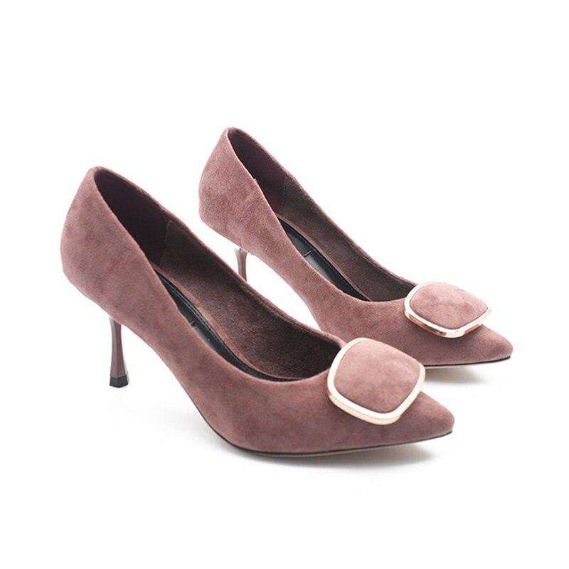 Vrouwen mode schoenen medium hoge hakken pompen werk schoenen office wear fashion comfortabele vrouwen schoenen-in Damespumps van Schoenen op  Groep 2