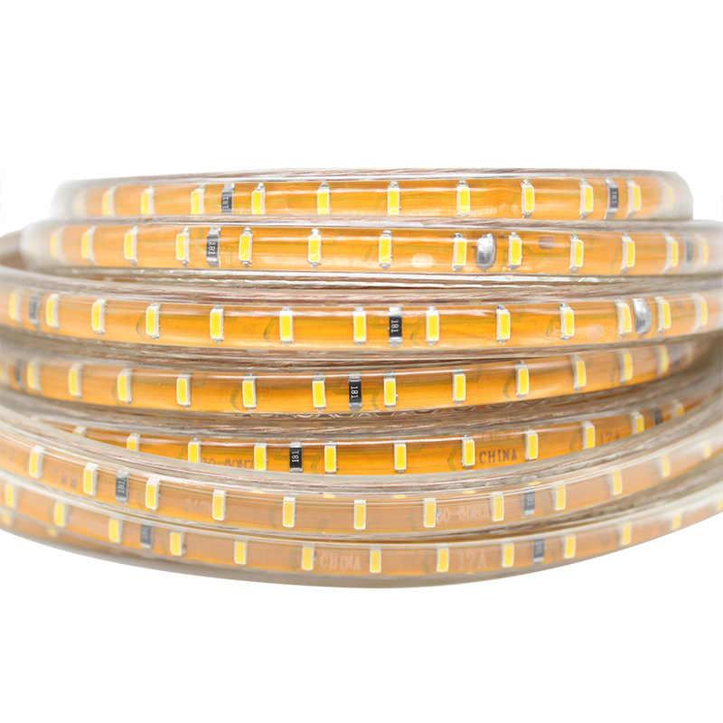 Светодио дный полосы света с включения/выключения SMD 3014 IP68 Водонепроницаемый гибкие светодио дный ленты 120 светодио дный s/метр открытый Сад Освещение ЕС plug