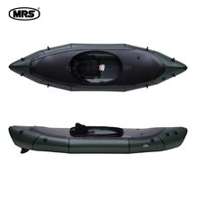 [MRS][Nomad S1D]Green ultra-light inflatable packraft dual use spraydeck Kayak boat(China)