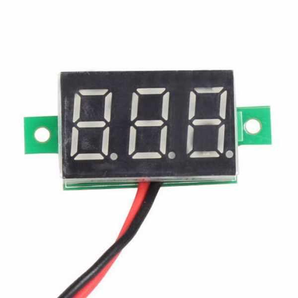 1 PC 新 30 × 10 ミリメートル 2 ラインミニデジタル電圧計黄色 Led パネル電圧計 3- デジタルディスプレイ電圧電圧計 P20