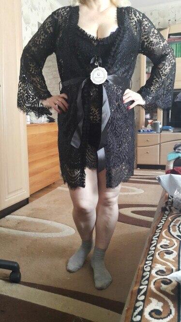 Bathrobe Sexy lingerie Gown Camisolas sensuais Summer Elegant sleepwear robe and gown evening robe grown set 006