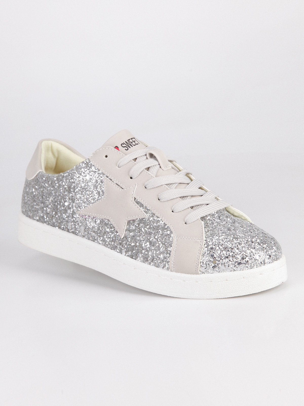 Sneakers With Star Glitterate