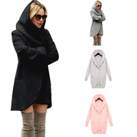 Fashion Women Material Slim Long Coat Jacket Windbreaker Parka Outwear Cardigan Coat