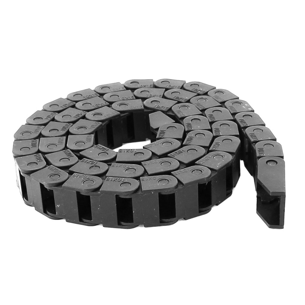цена на Plastic Black Cable Drag Chain Carrier 10mmx15mm for CNC Router Mill Transmission Chains Power Transmission Parts As A Component