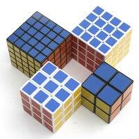 4 pz/set 2x2 3x3 4x4 5x5 PVC Adesivo Magic Cube Set ragazzi Regali di Natale Giocattoli Educativi Cubo Magico per I Bambini Di Puzzle Cube