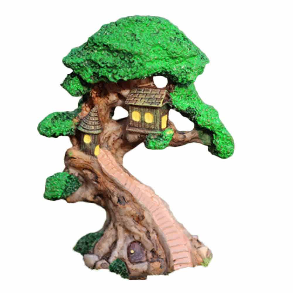 Elf Tree House Miniature Fairy Garden Home Houses Decoration Mini Craft Micro Landscaping Decor DIY Accessories