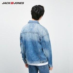 Image 4 - جاكيت دنيم ضيق مناسب للخريف للرجال من JackJones معطف أنيق ملابس خارجية للرجال 219157511