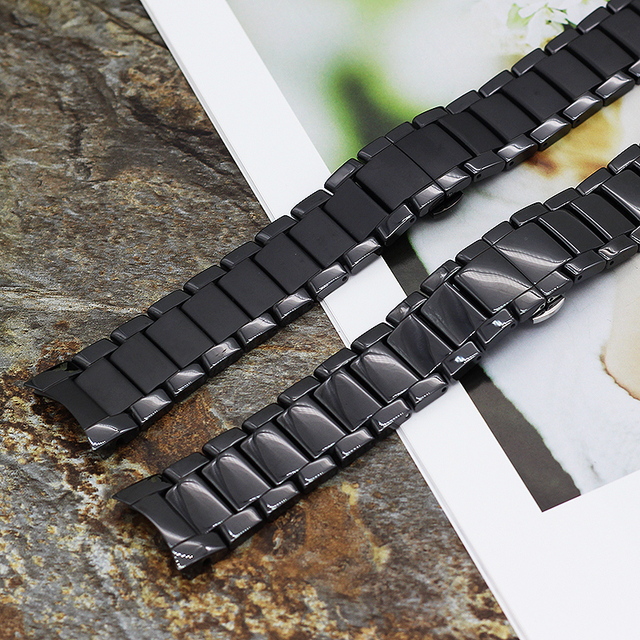 22MM 24MM New Fashion Men's End Ceramic Bracelet For Ar1475 Watch Strap Band For