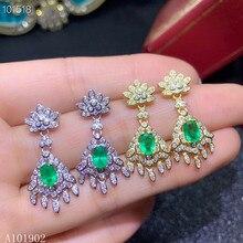 KJJEAXCMY Supporting detection S925 sterling silver jewelry womens water drop black agate earrings
