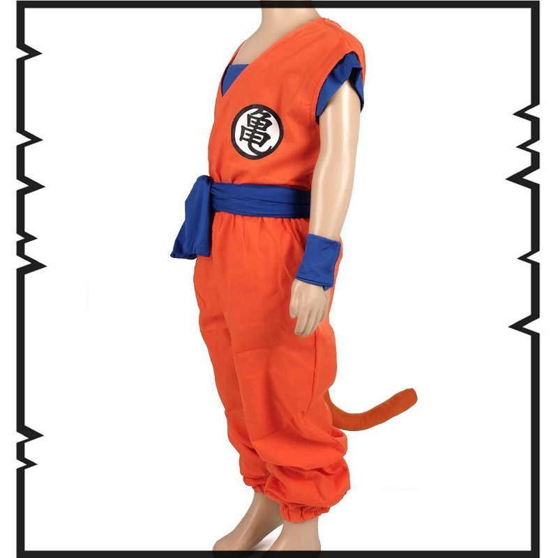 Disfraz de Anime calidad superior Niños Dragon Ball Z Son Goku - Disfraces