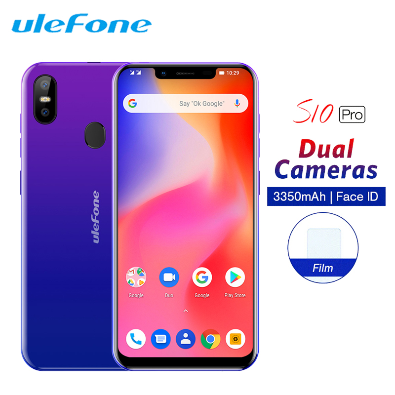 Ulefone S10 Pro Mobile Phone Android 8.1 5.7 19:9 MT6739 Quad Core 2GB RAM 16GB ROM 13MP+5MP Fingerprint Face ID 4G SmartphoneUlefone S10 Pro Mobile Phone Android 8.1 5.7 19:9 MT6739 Quad Core 2GB RAM 16GB ROM 13MP+5MP Fingerprint Face ID 4G Smartphone