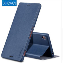 X-Level Luxury Business Style PU Leather Flip Case For Sony Z Ultra(XL39h) Z1(L39h) Ultra thin Stand Cover For Sony Z(L36h) Case(China)
