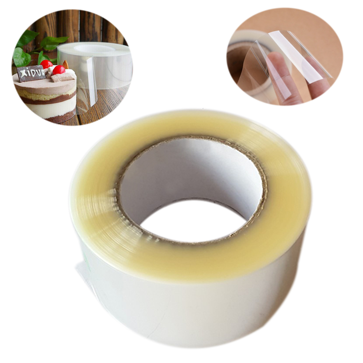 DIY Chocolate Mousse Cake Decorating Acetate Sheet Clear Roll 210M Christmas Home Birthday Party Decoration