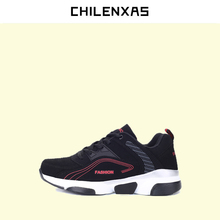 CHILENXAS 2017 New Spring Autumn Leather Men Casual Shoes  Lace up British Style Breathable Ciomfortable Height Increasing Solid