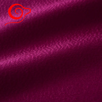 Double sided Water ripples 100% cashmere fabric woolen coat fabrics 780GSM Rose Red