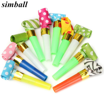 10pcs/set Multicolor Party Blowouts Whistles Kids Birthday Party Favors Decoration Supplies Noice maker Toys Goody Bags Pinata 1