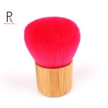 Red Professional Kabuki Brush Bamboo Handle Makeup Make Up Brush Foundation Blush Powder Brush Pincel Pinceaux Brochas BRD04 недорого