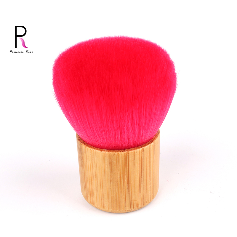 Professionnel Rouge Kabuki Brosse Bambou Poignée Maquillage Make Up Brosse Fondation Blush Poudre Brosse Pincel Pinceaux Brochas BRD04