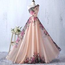 Hirigin модное женское платье, без рукавов, на одно плечо, четыре стиля, цветочное длинное платье, коктейльное, вечернее, выпускное платье
