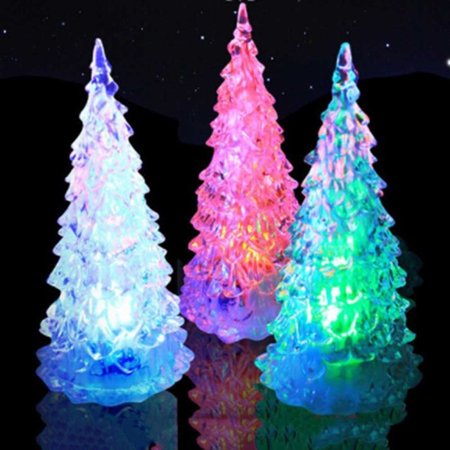 2017 hot sale christmas night gift light apple christmas tree shape color changing led lampchristmas new