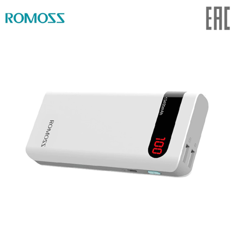 Power bank Romoss Sense 4P mobile 10400 mAh solar power bank externa bateria portable charger for phone car jump starter battery 82800mah portable booster with usb power bank led flashlight for truck automobiles boat hot sale