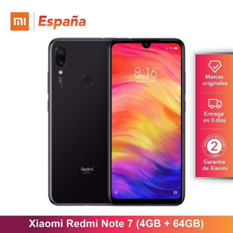 [Versión Global para España] Xiaomi Redmi Note 7 (Memoria interna de 64GB RAM de 4GB, Camara dual trasera de 48 MP)