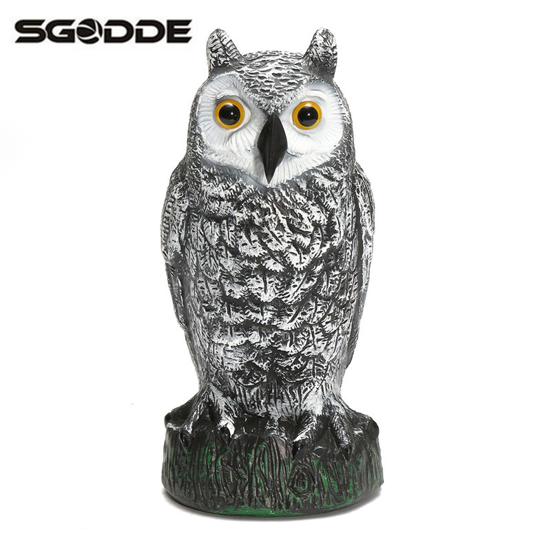 Hot Plastic Fake Owl Outdoor Hunting Shooting Decoys Garden Yard Ornaments Bird Caller Scarer Scarecrow Rodents Pest Control