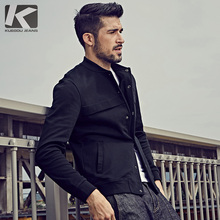 KUEGOU Fashion Male Designed Solid Color Full Sleeve Hoody Fleece With Pocket Men Sweatshirt 7010