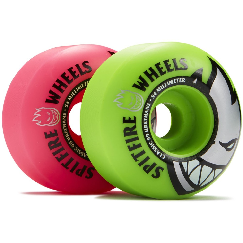 Image 4 - Freeshipping Original Spitfire Wheels Bighead Classic Mashup Neon Pink / Green Skateboard Wheels   54mm 99a (Set of 4)-in Skate Board from Sports & Entertainment