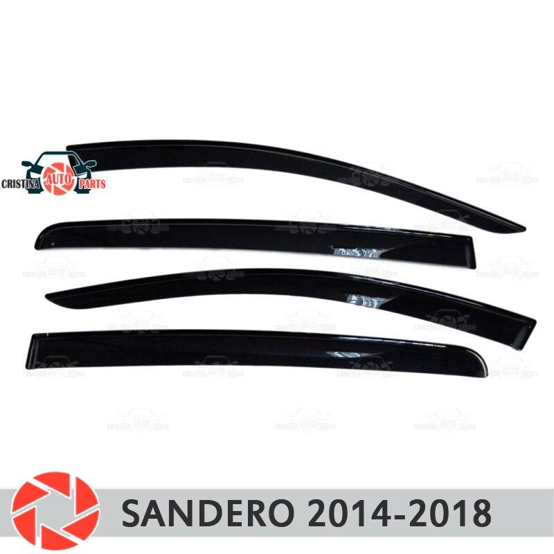 Deflector janela para Renault Sandero 2014-2018 chuva defletor sujeira proteção styling acessórios de decoração do carro de moldagem