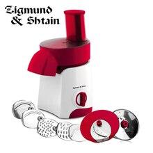 Мультирезка Salatmeister Zigmund&Shtain нарезает, натирает, шинкует за считанные секунды, расширенная функциональность, качество и удобство, высокая мощность, стильный дизайн, легкий уход, удобное хранение