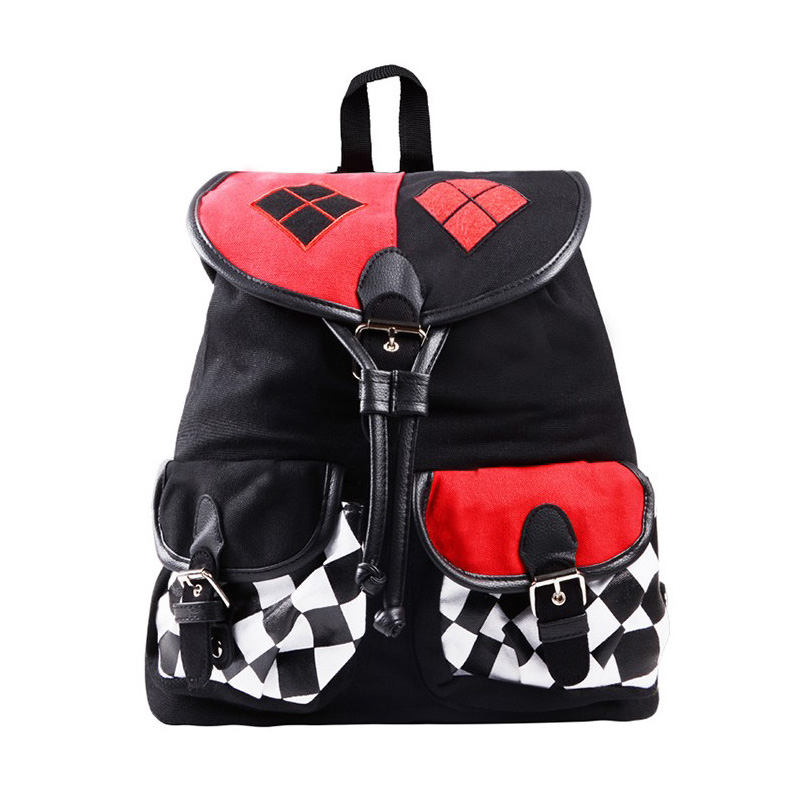 Hot Suicide Squad Harley Quinn Backpack Teenager Preppy School Bag Wholesale Girls Schoolbag Women Rucksack