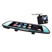 8 Inch Dual Lens 4G 1080P Driving Recorder 170 Degree Car Rear View Mirror DVR Inner