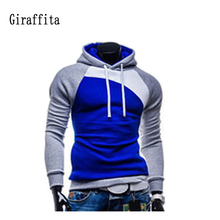 New Brand Men Sport Hoodies Spell Color Stitching  Sweatshirts Men's Sportswear Brand Hoodies Jacket