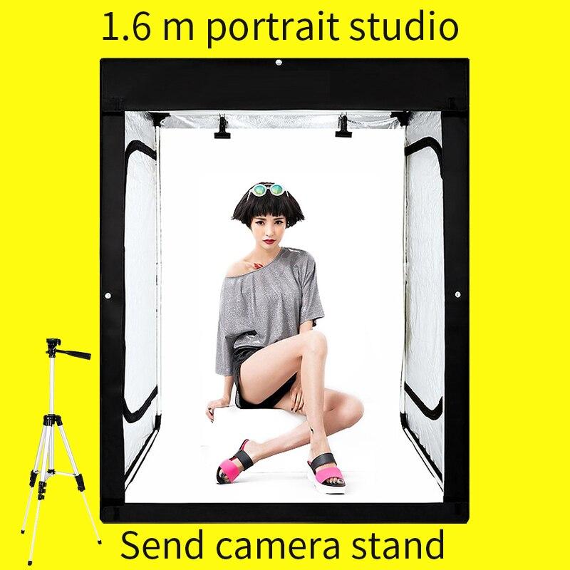 120*80*160 CM Photo Studio Dimmable lumière LED tente boîte souple photographie Studio Lightbox salle de tir boîte Photo