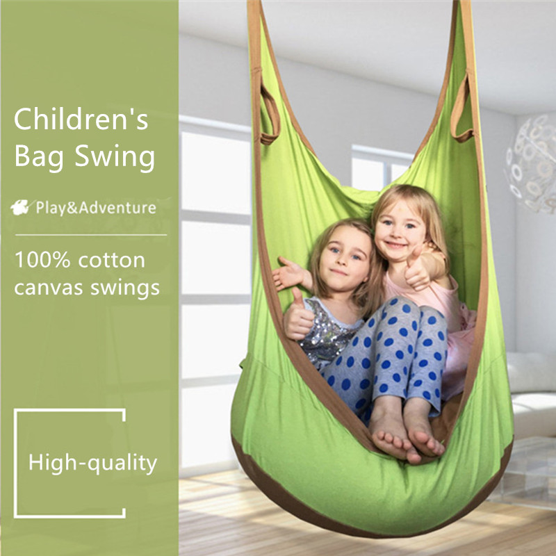 Children's Bag Swings Kids Pod Swing Chair Sleeping Bag Hammock SeatIndoor Outdoor Playground Inflatable Cushion Chair siku трактор john deere с пресс подборщиком