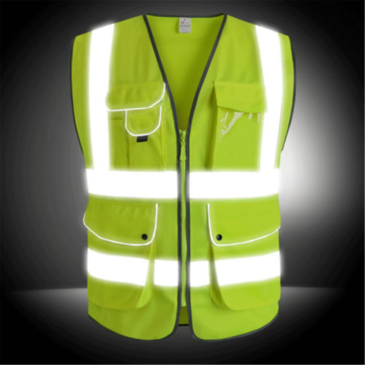 Safurance Unisex High Visibility Reflective Multi Pockets Construction Safety Vest Working Clothes Outdoor Clothing In From Security