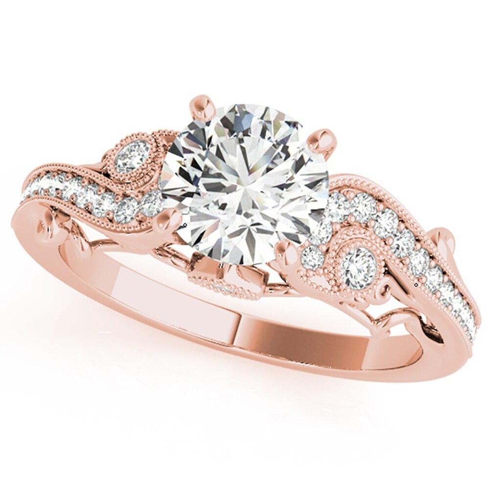 Для женщин Модные полые цирконами Свадебные Обручение Promise Ring палец ювелирные изделия