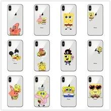 Spongebob Squarepants Patrick Star Gary Glasses Soft Clear Phone Case For iPhone XS MAX 7 8 Plus 6 6S 11 11PRO SE  Cover
