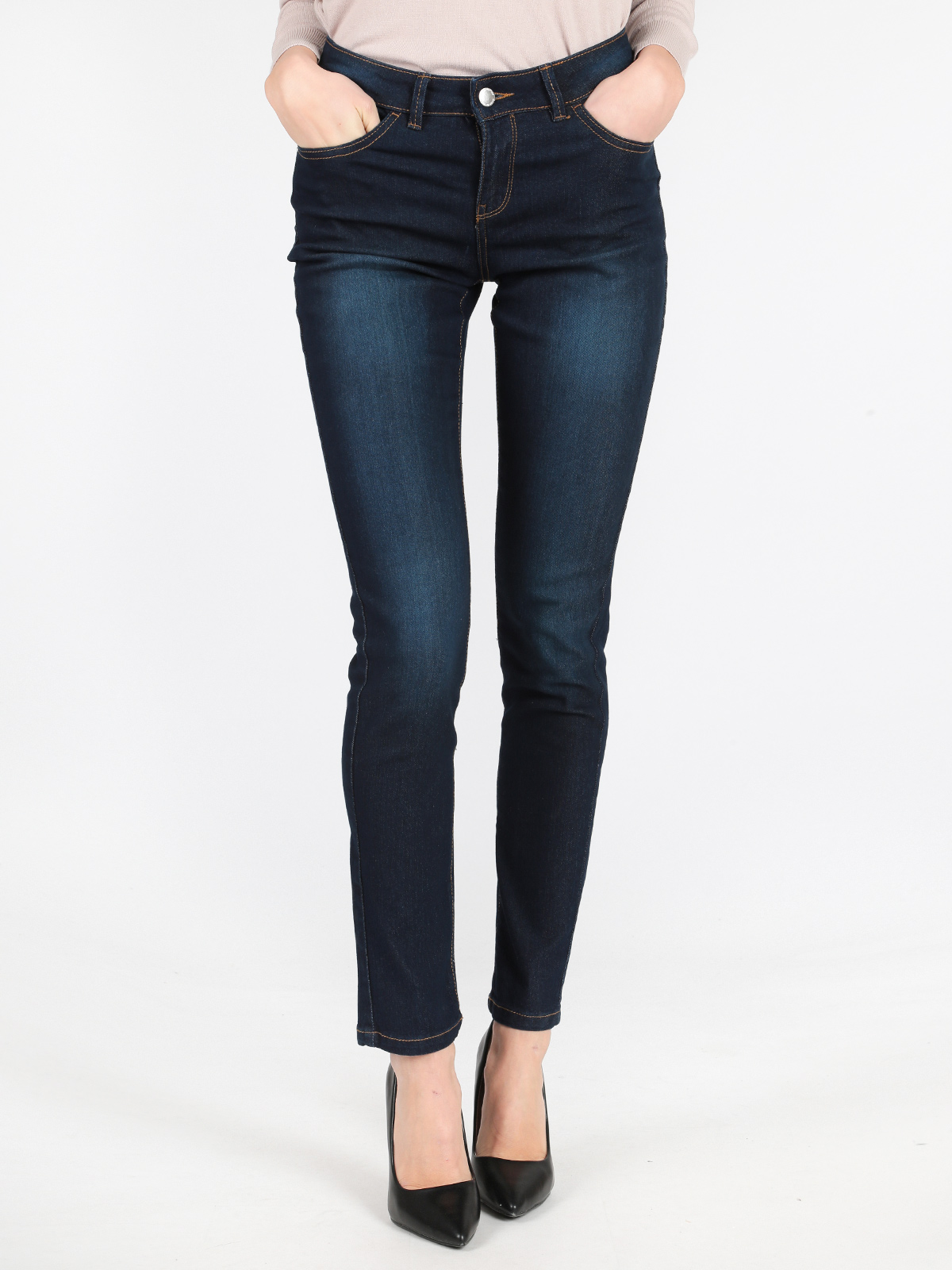 Jeans Woman Elastic Slim Pencil Spring Jenas