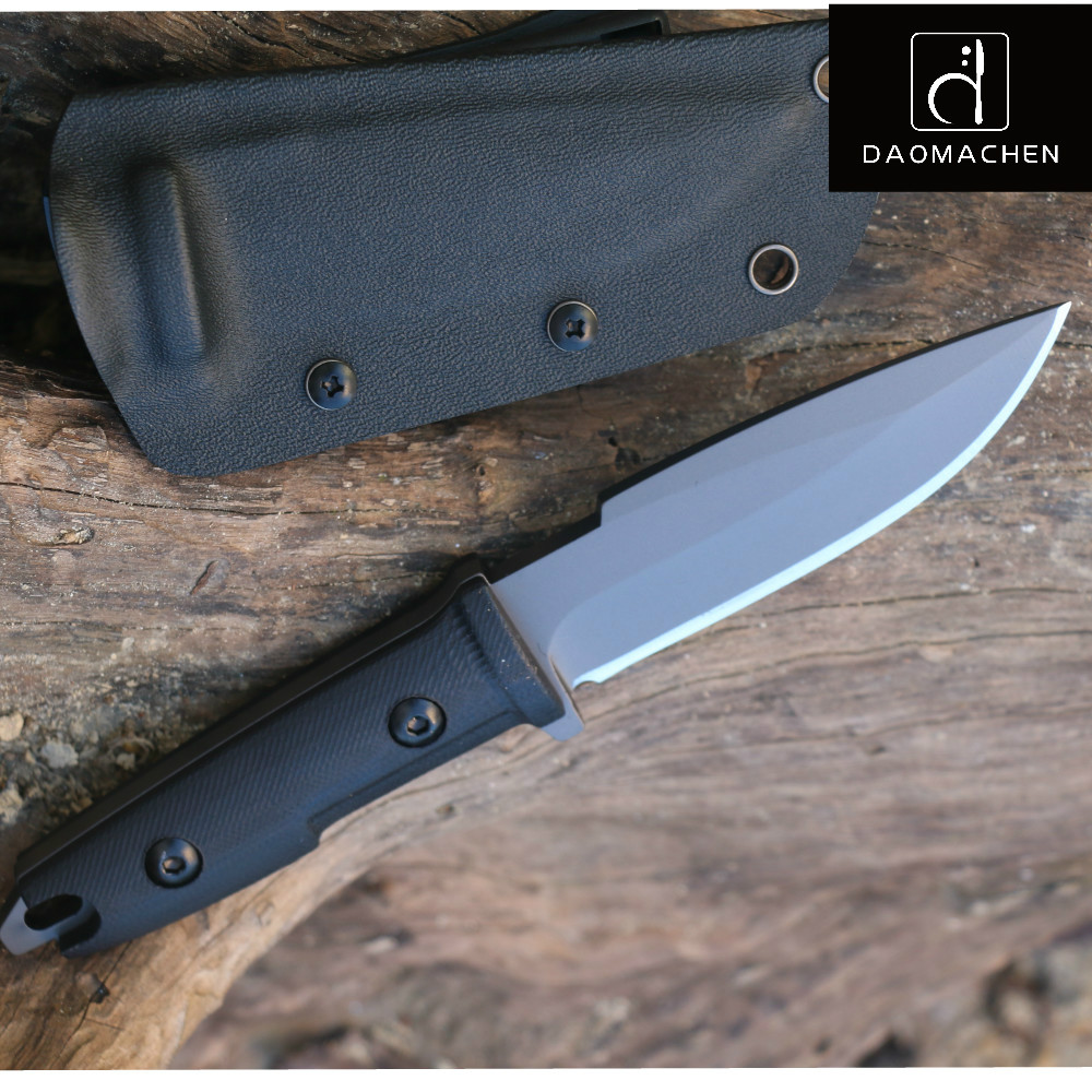 DAOMACHEN camping survival Knife Hunting Knife Full Tang With Imported K sheath G10 Handle Fix blade knife