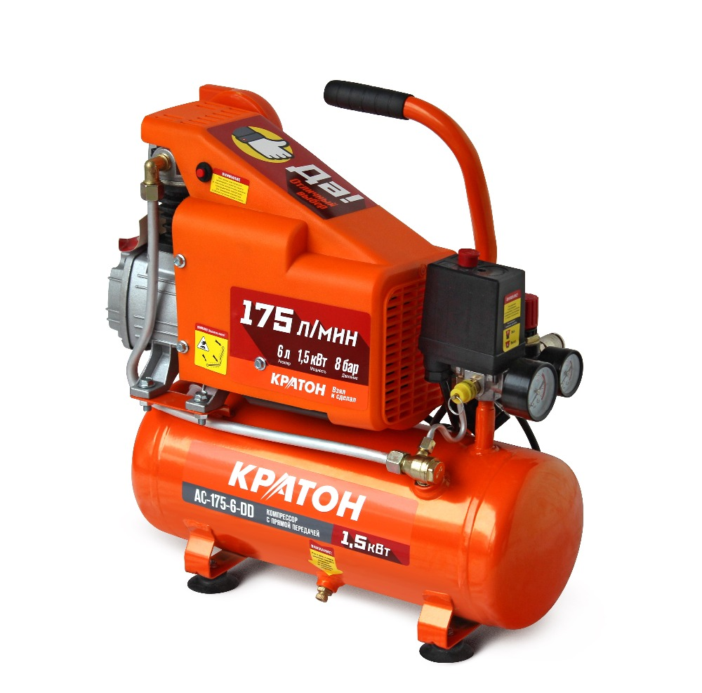 Compressor KRATON with direct transmission AC-175-6-DD compressor kraton with direct transmission ac 180 24 dd