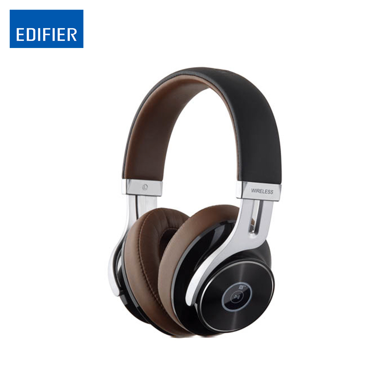 EDIFIER Bluetooth Headphones W855BT HIFI Over-Ear Noise Isolation Bluetooth4-1-Headphone With Microphone Support NFC Apt-X new original msur n650 wooden metal hifi music dj headphone headset earphone with beryllium alloy driver portein leather