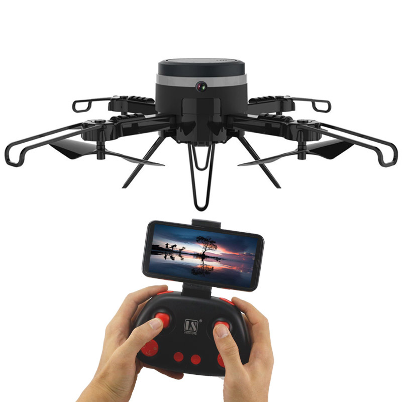 Surveillance cameras monitoring 2 in 1 Water glass shape RC Helicopter Foldable Mini Drones with hd Camera FPV Quadcopter Selfie