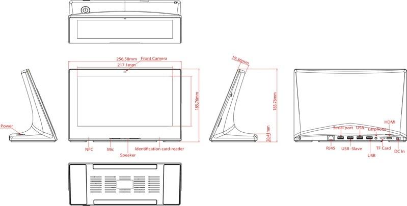 10 polegada desktop android poe tablet comercial pc 19801080 05