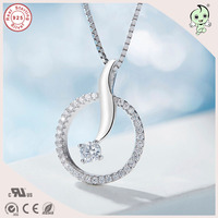 Top Quality Popular And Delicate Dolphin Circle Pendant 925 Sterling Silver Necklace