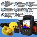 Fortunato FF718LiC 2-in-1 di Colore Fishfinder Wireless/Wired Sensore di Inglese/Russo Menu