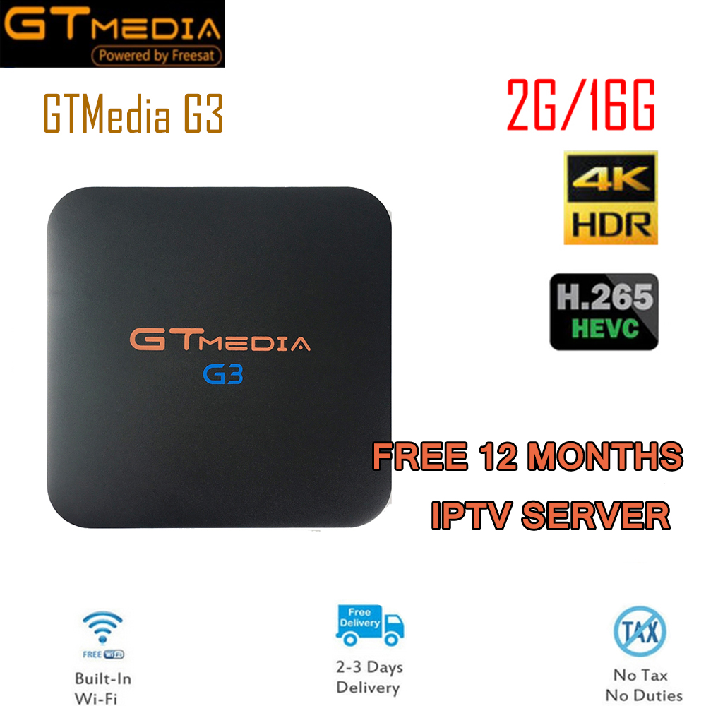 Здесь можно купить  GTMEDIA G3 TV BOX Smart 4K Bluetooth 4.0 Android 7.1 2G/16G +free 12 months IPTV Netflix Media Player Set-top Box G3 TV Boxes  Бытовая электроника