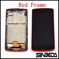 Sinbeda Red Color For LG Google Nexus 5 D820 D821 LCD Display With Touch Screen Digitizer Assembly With Frame